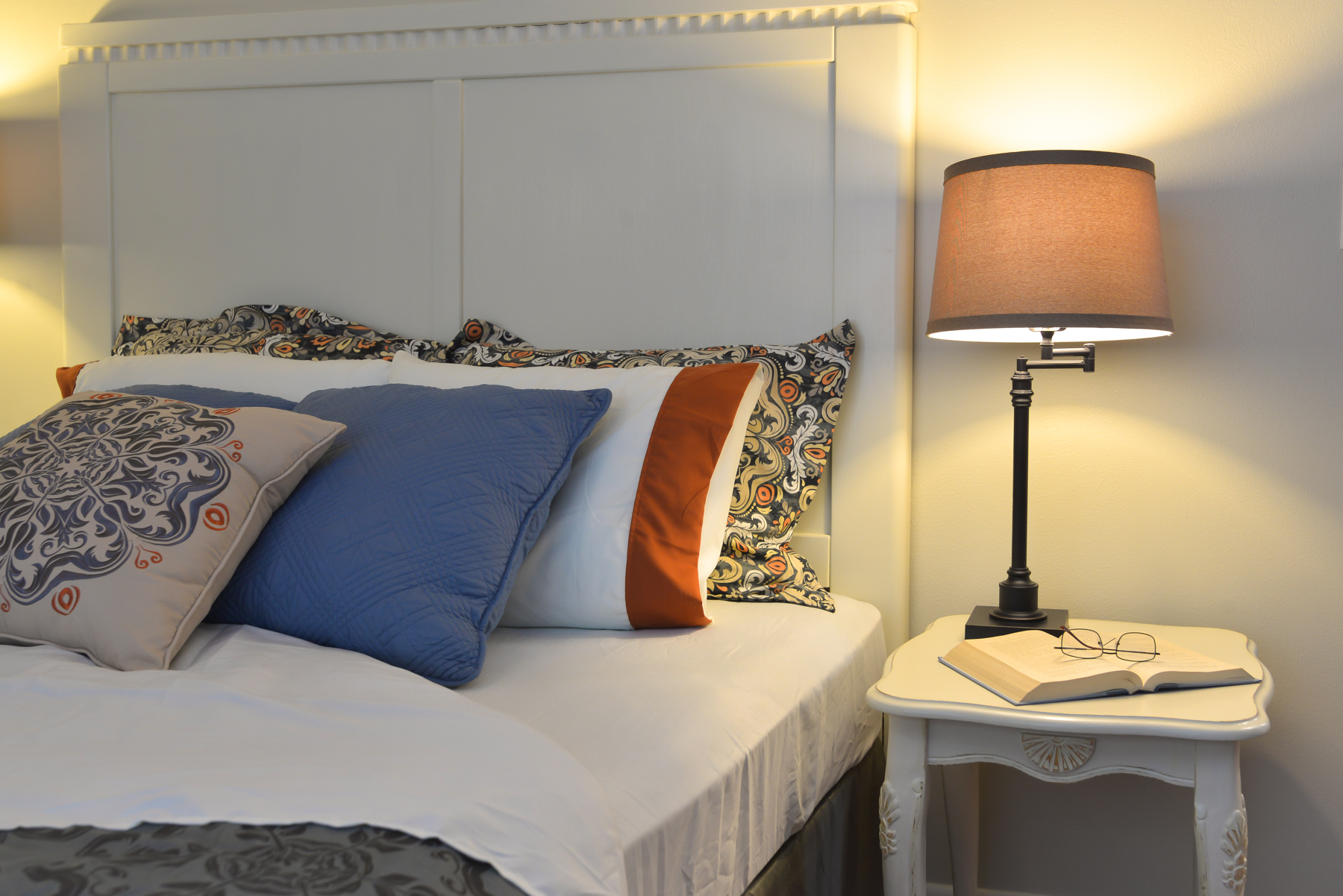 Vacant Home Staging Master Bed close up
